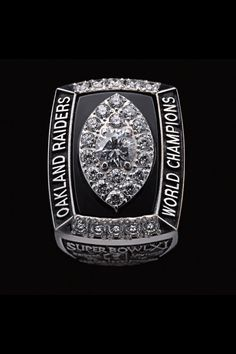 This documentary features a wealth of footage from the 1976 Super Bowl alongside commentary from members of that game's winning team, the Oakland Raiders Super Bowl, Oakland Raiders Images, Oakland Raiders Football, Raiders Fans, Th Game, Super Bowl Rings, Ring Of Honor, Championship Rings, Football And Basketball