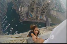 Secreto A Voces:  Top Model Se Arriesga La Vida Haciendo Sesiones De Fotos En Los Edificios De Dubai