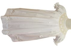 Girl's Smocked Dress in White with Ecru Pearls By Royal Child.