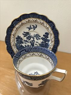 Smart Alfred Meakin Vintage Pin Dishes Willow Pattern Jade White Pottery