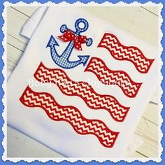 Anchor Flag Applique - 3 Sizes! | What's New | Machine Embroidery Designs | SWAKembroidery.com Baby Kay's Appliques