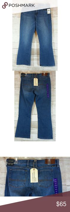 """Temp Price Drop NWT Lucky Brand Sofia Jeans  14/32 NWT Lucky Brand Sofia Boot Jeans.  They are a size 14/ 32 ankle which has an inseam of 30"""".   All items are from a non smoking and pet friendly home.  Any questions, please let me know.  Bundles welcome  Offers welcome, please use the offer button.  Happy Poshing! Lucky Brand Jeans Boot Cut"""