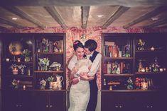 Lake District pub | A winter wedding | Enzoani Fada lace wedding dress, | bright colour scheme | pink bridesmaid dresses | Rustic decor | Vintage Inspiration | Photography by Hayley Baxter | http://www.rockmywedding.co.uk/steph-paul/