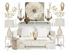 """""""Ivory Elegance"""" by bcurryrice on Polyvore featuring Southern Enterprises, Altra, Safavieh, Pier 1 Imports, Yosemite Home Décor, LBL Lighting, Kate Spade, Currey & Company, Nearly Natural and Nordstrom"""