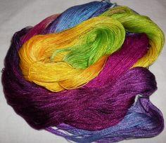 Handpainted 82 Tencel Lace Wt. Yarn   RIVER by YarntopiaTreasures, $10.95
