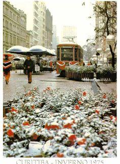 tinha ate PONCHO - Curitiba ficou linda em 1975 coberta por neve