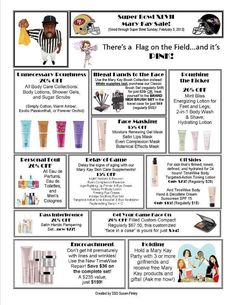 Mary Kay® Flyer for Super Bowl Sale