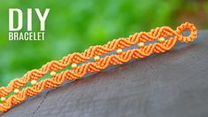 Wavy Rhomb Bracelet with 3D Effect ◆ Easy Macrame Crafts