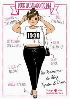 Outfit of the day illustration Ju Romano - Blog Entre Topetes e Vinis
