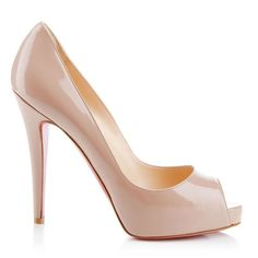 """""""Very Prive"""" is the perfect place to start your Louboutin collection. The nude patent version is a classic piece that can be worn for any occasion, especially when you are looking to catch the eyes of others in the room."""
