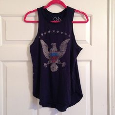 Chaser Brand Tank Old American patriotic tank by Chaser Brand wore one time! Super super soft and racer back! Negotiable through the offer button, lowball offers will be denied, no trades please! Chaser Tops Tank Tops