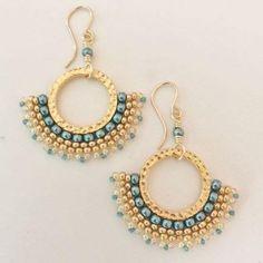 Beaded Corona Earrings