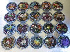 Yo-kai Watch Lot 20 Medals Holo Gray Medal JAPAN Version Yokai Noko Komasan F/S #BANDAIJAPAN