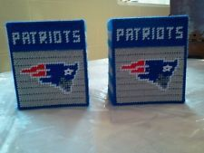 New nfl footbal patriots Boutique Tissue Box Cover Plastic Canvas handmade