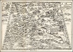 1550 Map of Moscow by Baron Sigismund von Herberstein