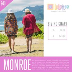 The Monroe kimono is flowing, oversized and comfortable, and it comes in the prettiest patterned chiffon and lace fabrics. For added interest, the half-inch hem boasts a four-inch, cut-fringe embellishment giving it an almost flirty or sassy edge. It is great for throwing on over the most basic of outfits to look instantly polished and stylish. Looking and feeling great truly does not get easier than the Monroe kimono.