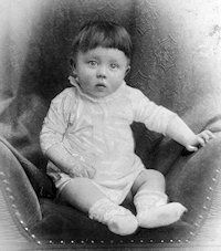 Baby Hitler, as a baby his was harmless and as an adult he did more destruction in the world than at the time it was ever seen and now.