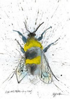 Garden Bumblebee by Ralph Steadman