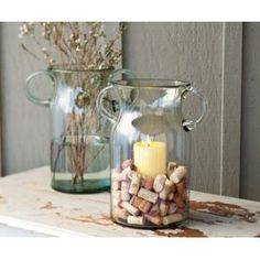Glass candle vase by Napa Style