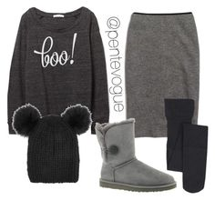 """Boo"" by pentevogue ❤ liked on Polyvore featuring Madewell, UGG Australia and Eugenia Kim"