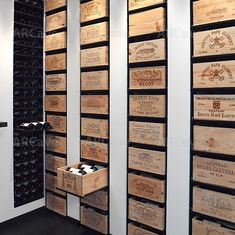 I think I have cellar envy! I think I have cellar envy! Great wines on show. I think I have cellar envy! Great wines on show. Cave A Vin Design, Wine Display, Wine Storage, Storage Ideas, Crate Storage, Kitchen Storage, Shelf Ideas, Storage Boxes, Tasting Room
