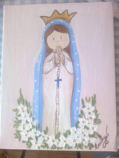 pinceladas: Siempre la Virgen, un regalo perfecto para comuniones, cumpleaños.....