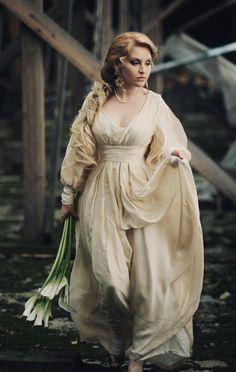 Silk dress by antique_cameo