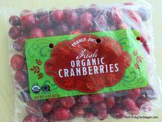 Trader Joe's Fresh Organic Cranberries #BrightLineEating