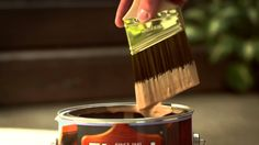 Wood Staining Tip: Don't Drown The Brush