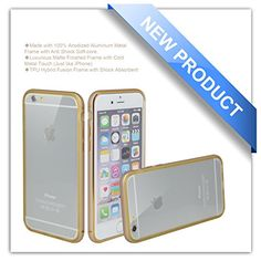iPhone 6 Case, Zio [Aluminum Metal Frame] [TPU Hybrid Fusion] [[All Clear Scratch-Resistant Clear Back Cover] [Shock Absorbent] iPhone 6 4.7'' [Iron Bumper] [2015 Model](iPhone 6-Champagne Gold) Zio http://www.amazon.com/dp/B00X71ORNK/ref=cm_sw_r_pi_dp_QkHPvb02D2F7S