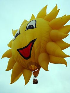 Ballooning days are always sunny days (or you don't fly)!