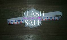 Red White Blue Star Headband,FLASH SALE,FOE,4th of July,Newborn to Adult,Summer,Girls,Girl,Birthday Outfit,One Day Free Shipping,Accessory