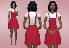Veranka's TS4 Downloads | Overall Dress new mesh by me DOWNLOAD: mediafire...