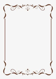 gold border frame deco transparent clip art image patterns