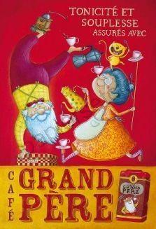 Poster Amandine Piu Câfé grand père
