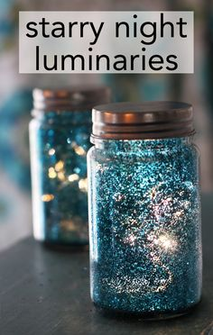 super easy starry night luminaries, made with glitter and hairspray See more diy #glitter #galaxys6 case designs http://www.zazzle.com/samsunggalaxycase/products?qs=glitter&sr=250021891597494752&pg=1&ps=96&rf=238478323816001889&tc=glittergraft-suynghilonpin