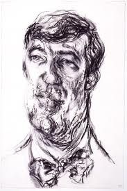 Maggi Hambling portrait of Stephen Fry Expressionist Portraits, Expressionism, Identity Artists, Maggi Hambling, Monochromatic Art, Portrait Inspiration, Portrait Ideas, A Level Art, Interesting Faces