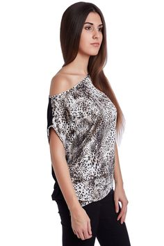 Q2 Boat Neck Top In Texture With Gray Leopard Print - https://crowdz.io/product/q2-boat-neck-top-in-texture-with-gray-leopard-print/?pid=GM38XG3ZW196PZN&utm_campaign=coschedule&utm_source=pinterest&utm_medium=Crowdz