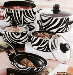 Zebra pots and pans