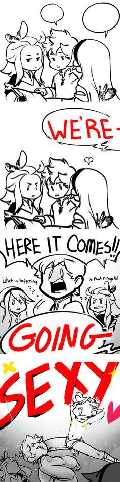 """We're Going SEXY!!!"" LOL omg [(c) original artist (not mine)]"
