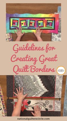 Heather Thomas demonstrates how borders can be used in several different ways. See her many examples and find out how important it is for your quilts to have border balance. Learn the guidelines for quilting borders as well as what a border system is! Use these tips to help you make good choices in your quilt borders. Quilting For Beginners, Quilting Tips, Quilting Tutorials, Quilting Projects, Quilting Designs, Beginner Quilting, Quilt Design, Hand Quilting, Strip Quilts