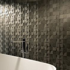 Vals - chunky stone-looking porcelain tiles by Majorca Handmade tiles can be colour coordinated and customized re. shape, texture, pattern, etc. by ceramic design studios
