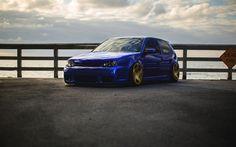 Download wallpapers Volkswagen Golf GTI, tuning, 4k, stance, Volkswagen Golf IV, VW, german cars, Volkswagen