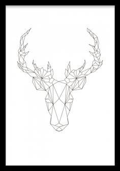 Geometric Deer, poster ryhmässä Julisteet ja printit / Koot / 21x30cm @ Desenio AB (7845)