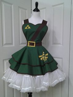 I frikkin' need this! The Legend of Zelda; Video Game Cosplay, Retro Pin Up Apron by PandorasProductions, $59.99