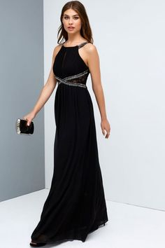 f0646c4db03 Little Mistress Black Empire Maxi Dress - Little Mistress from Little  Mistress UK