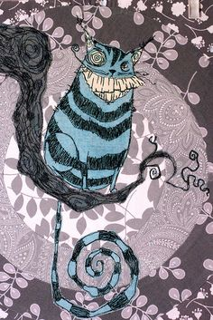 Cheshire Cat for Pastiche bee (2) - Explored! by ShapeMoth, via Flickr