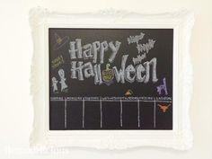 Happy Halloween DIY Chalk Art