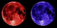superluna rossa e blu