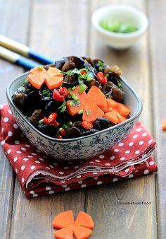 Marinade Black Ear (Wood Ear Mushroom Salad)--Wood ear mushroom is a super healthy fried food.